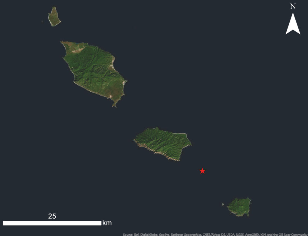 "Fig 2. Approximate location of ""no name reef""."